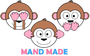 Mand Made Three Monkeys