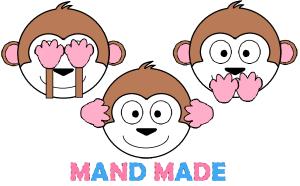 Mand Made Three Monkeys